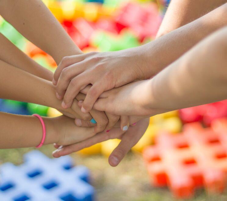 Hands Friendship Friends Children Child Childhood